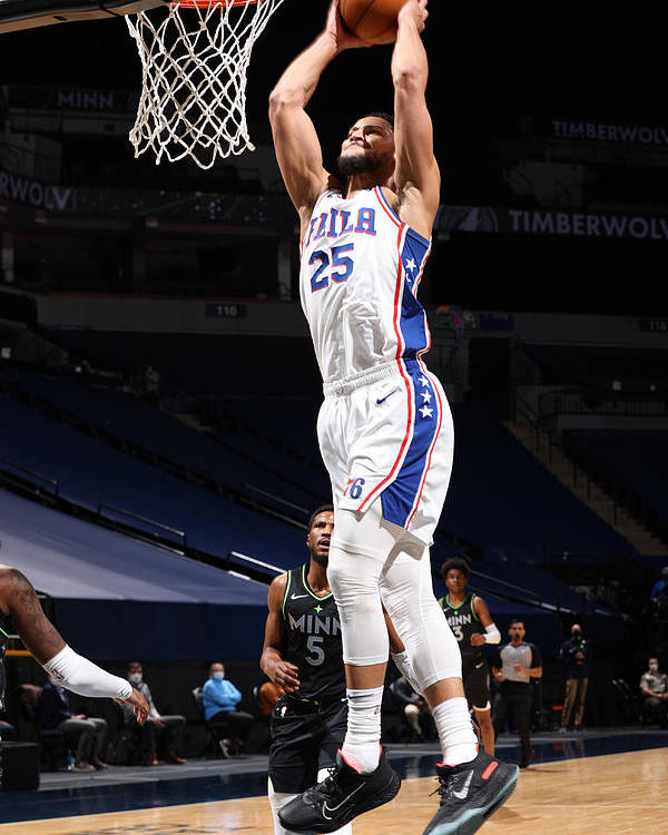 Nba Pro Basketball Poster featuring the photograph Ben Simmons by David Sherman