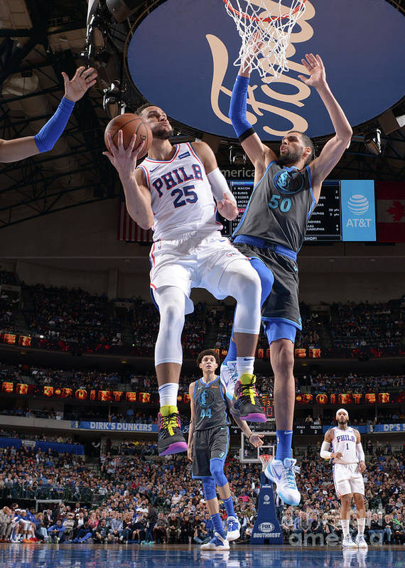 Nba Pro Basketball Poster featuring the photograph Ben Simmons by Glenn James
