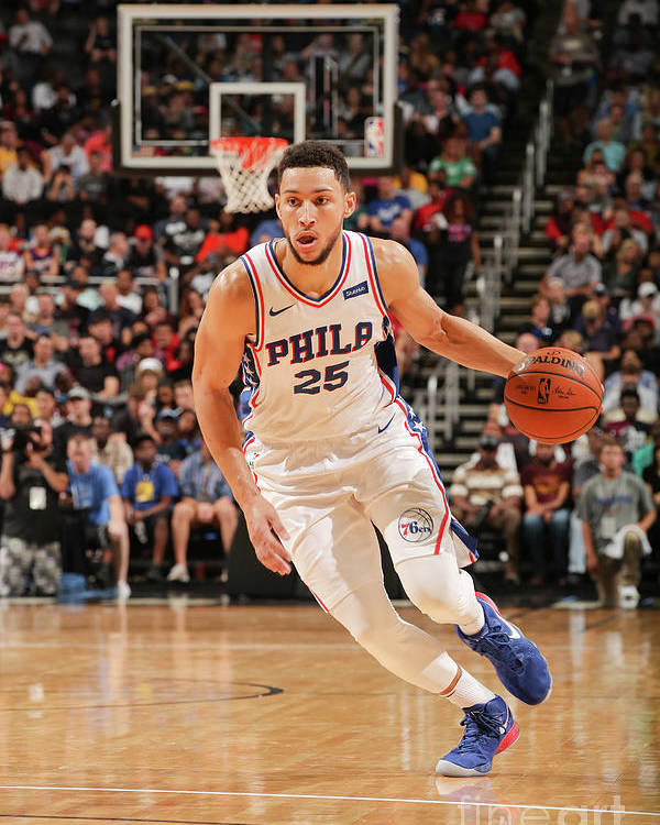 Nba Pro Basketball Poster featuring the photograph Ben Simmons by Issac Baldizon