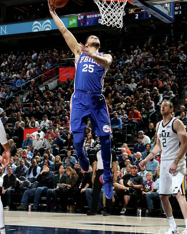 Nba Pro Basketball Poster featuring the photograph Ben Simmons by Melissa Majchrzak