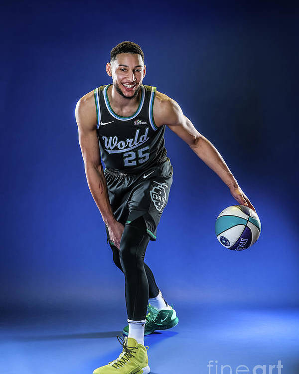 Nba Pro Basketball Poster featuring the photograph Ben Simmons by Michael J. Lebrecht Ii