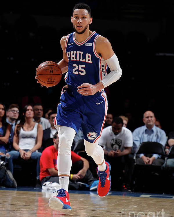 Nba Pro Basketball Poster featuring the photograph Ben Simmons by Nathaniel S. Butler
