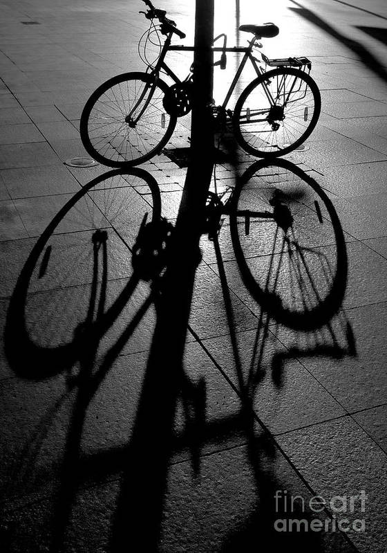 Bicycle Poster featuring the photograph Bicycle shadow by Sheila Smart Fine Art Photography