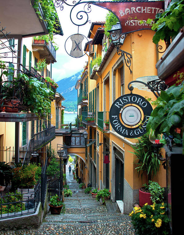 Bellagio Italy Poster featuring the photograph Bird's-Eye in Bellagio - Lake Como, Bellagio, Italy by Denise Strahm