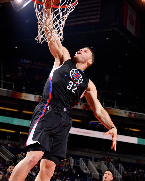 Nba Pro Basketball Poster featuring the photograph Blake Griffin by Barry Gossage