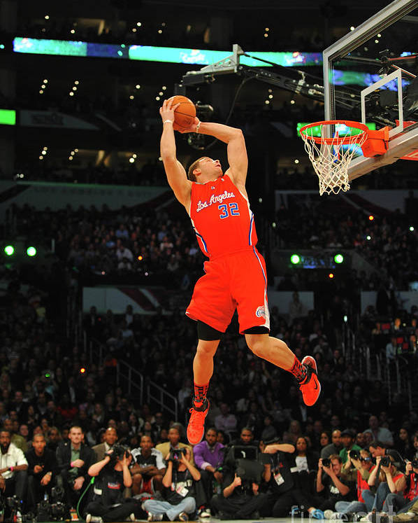 Nba Pro Basketball Poster featuring the photograph Blake Griffin by Jesse D. Garrabrant