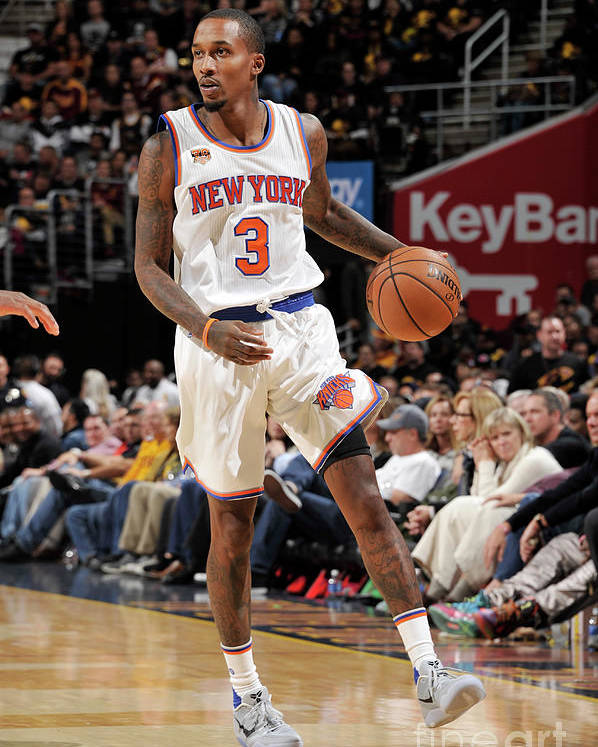 Nba Pro Basketball Poster featuring the photograph Brandon Jennings by David Liam Kyle