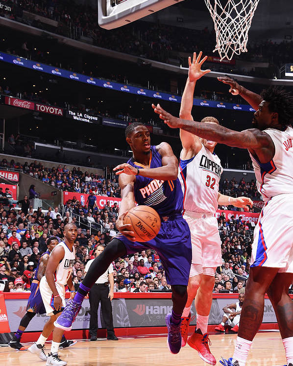 Nba Pro Basketball Poster featuring the photograph Brandon Knight by Juan Ocampo