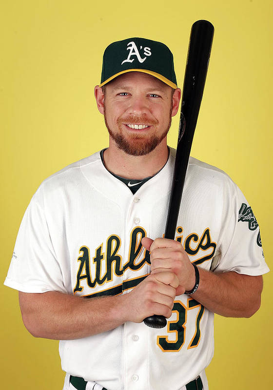 Media Day Poster featuring the photograph Brandon Moss by Christian Petersen