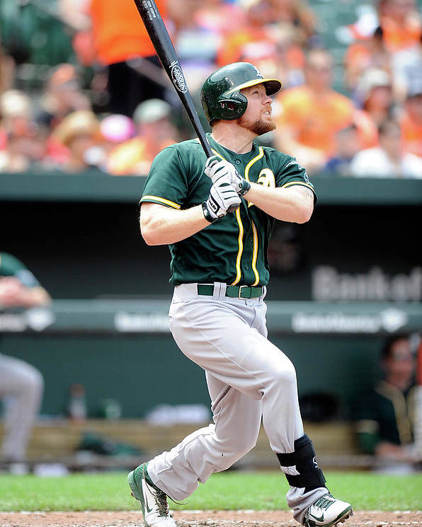 American League Baseball Poster featuring the photograph Brandon Moss by Greg Fiume