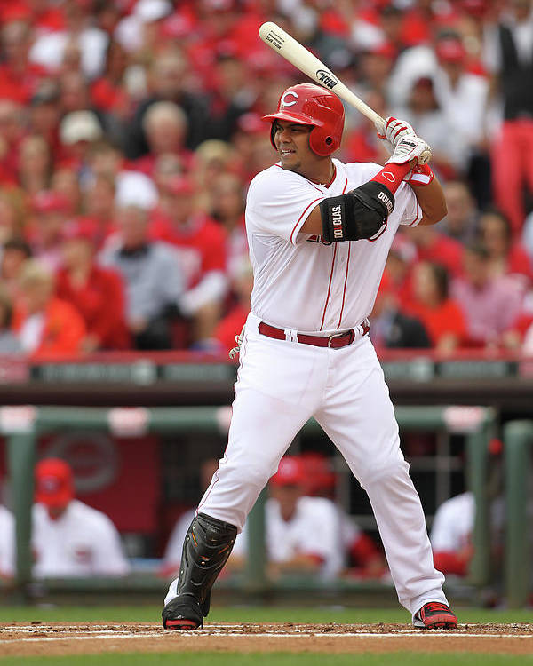 Great American Ball Park Poster featuring the photograph Brayan Pena by John Grieshop