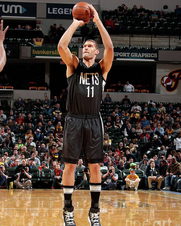 Nba Pro Basketball Poster featuring the photograph Brook Lopez by Ron Hoskins