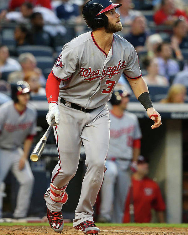 People Poster featuring the photograph Bryce Harper by Mike Stobe