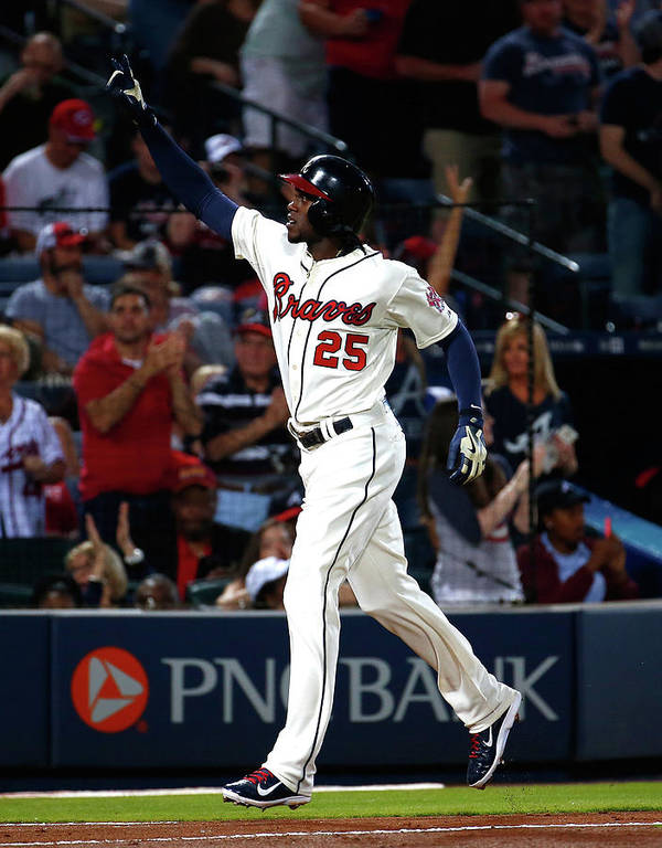 Atlanta Poster featuring the photograph Cameron Maybin by Kevin C. Cox