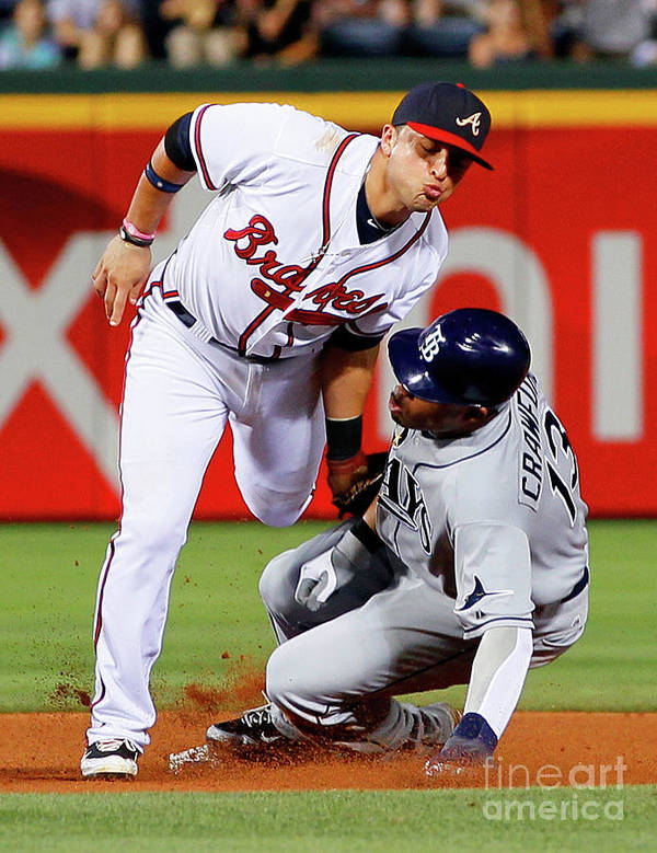 Atlanta Poster featuring the photograph Carl Crawford and Martin Prado by Kevin C. Cox