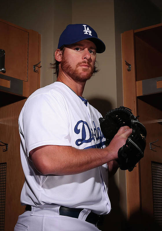 Media Day Poster featuring the photograph Chad Billingsley by Christian Petersen