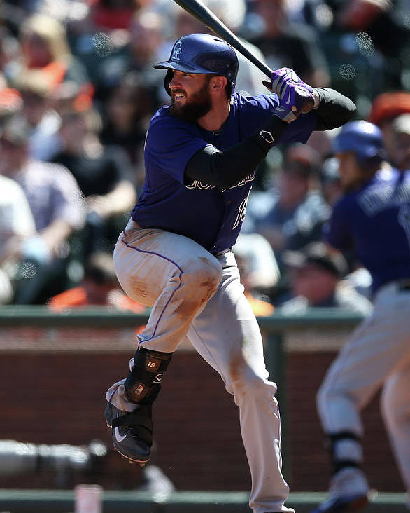 San Francisco Poster featuring the photograph Charlie Blackmon by Brad Mangin