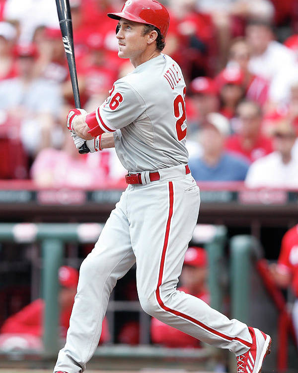 Great American Ball Park Poster featuring the photograph Chase Utley by Joe Robbins