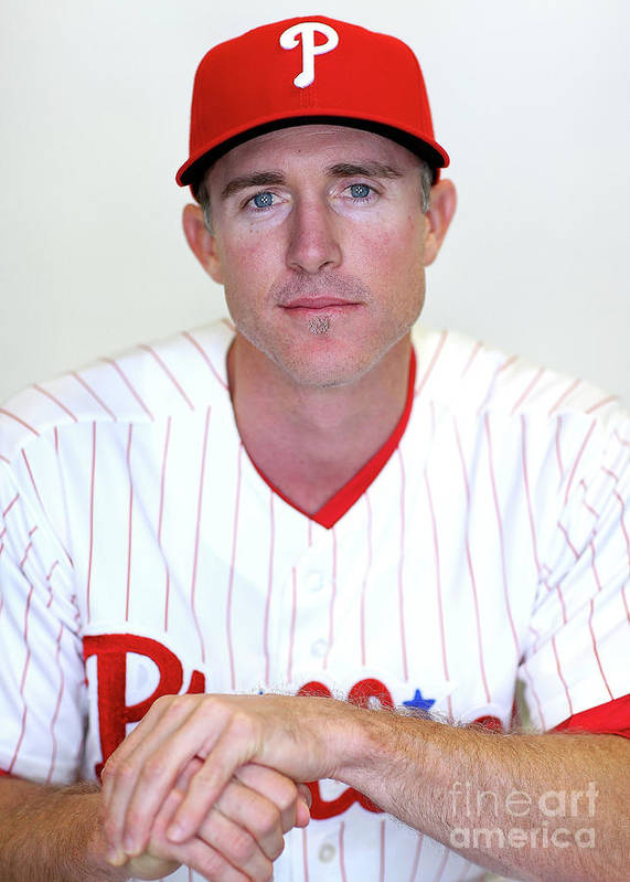 Media Day Poster featuring the photograph Chase Utley by Mike Ehrmann