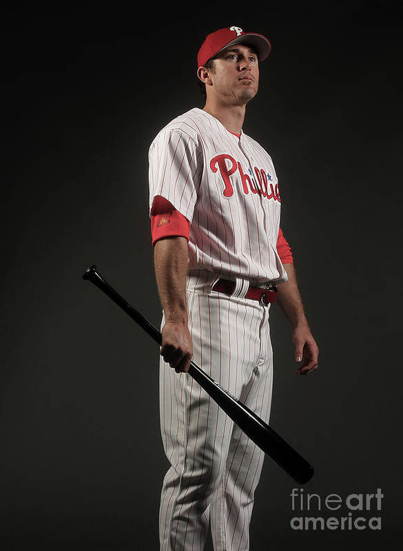 Media Day Poster featuring the photograph Chase Utley by Nick Laham