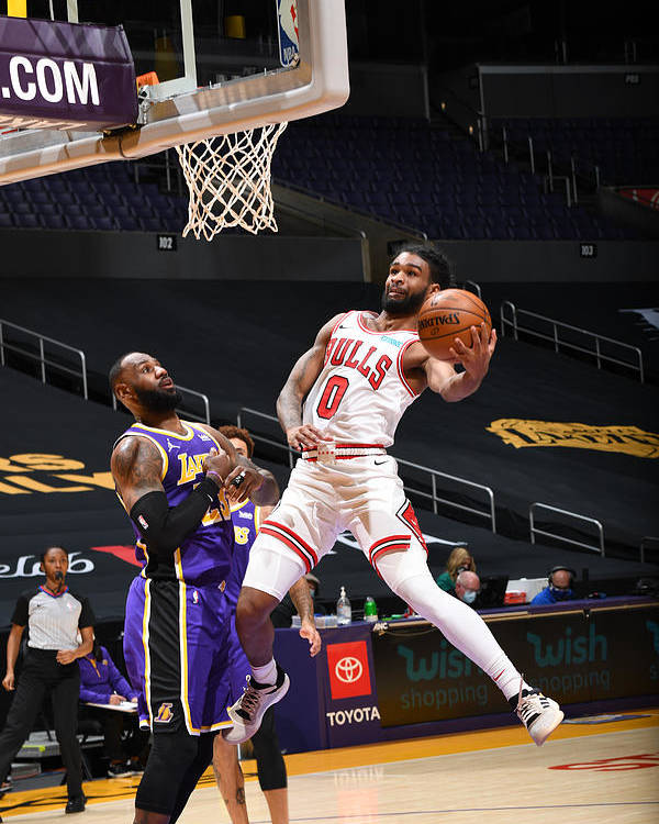 Coby White Poster featuring the photograph Chicago Bulls v LA Lakers by Adam Pantozzi