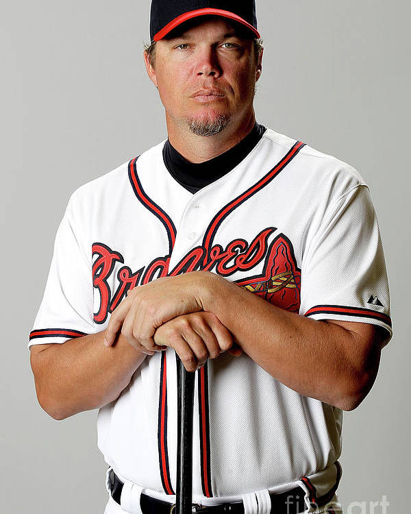Media Day Poster featuring the photograph Chipper Jones by Matthew Stockman