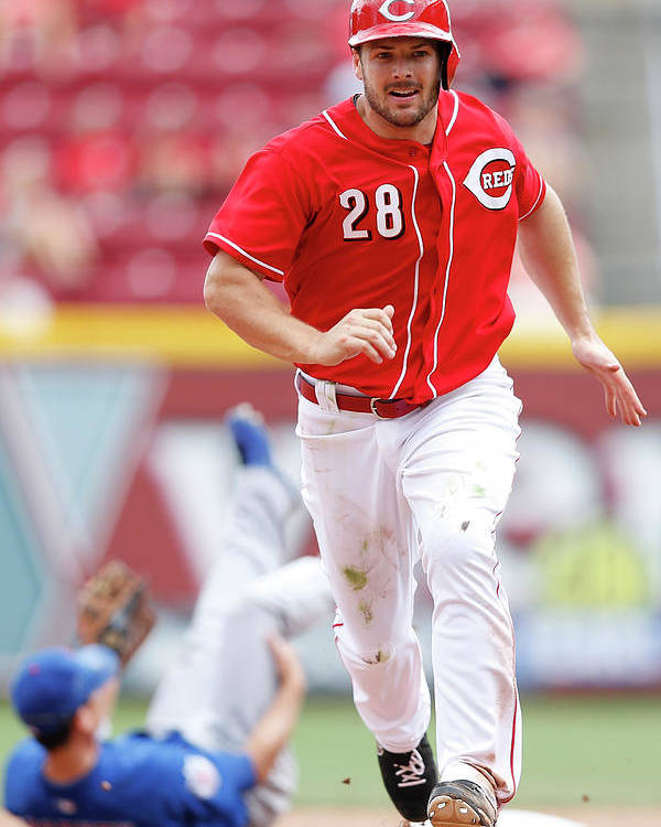 Great American Ball Park Poster featuring the photograph Chris Heisey by Joe Robbins