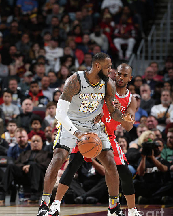 Nba Pro Basketball Poster featuring the photograph Chris Paul and Lebron James by Joe Murphy