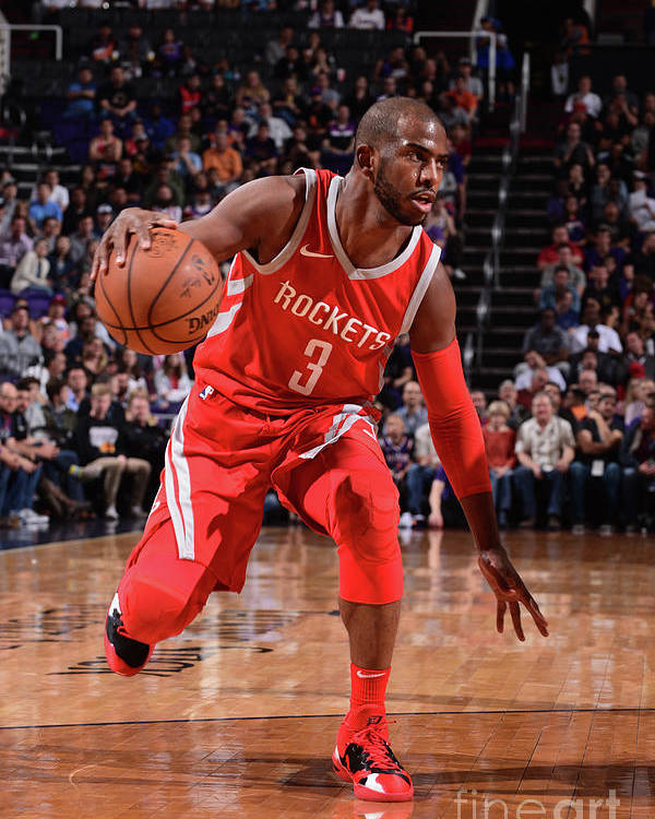 Nba Pro Basketball Poster featuring the photograph Chris Paul by Michael Gonzales