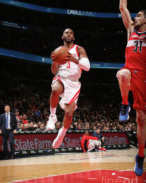 Nba Pro Basketball Poster featuring the photograph Chris Paul by Ned Dishman