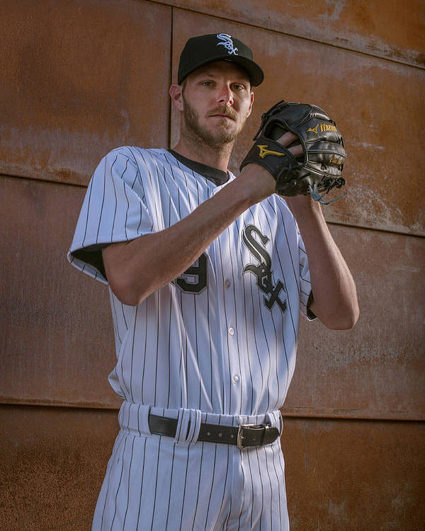 Media Day Poster featuring the photograph Chris Sale by Rob Tringali
