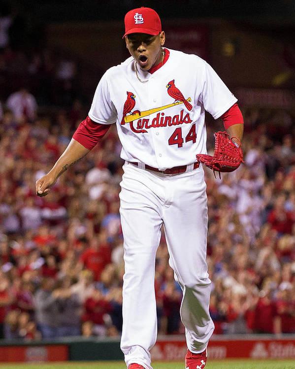 St. Louis Cardinals Poster featuring the photograph Chris Stewart by David Welker