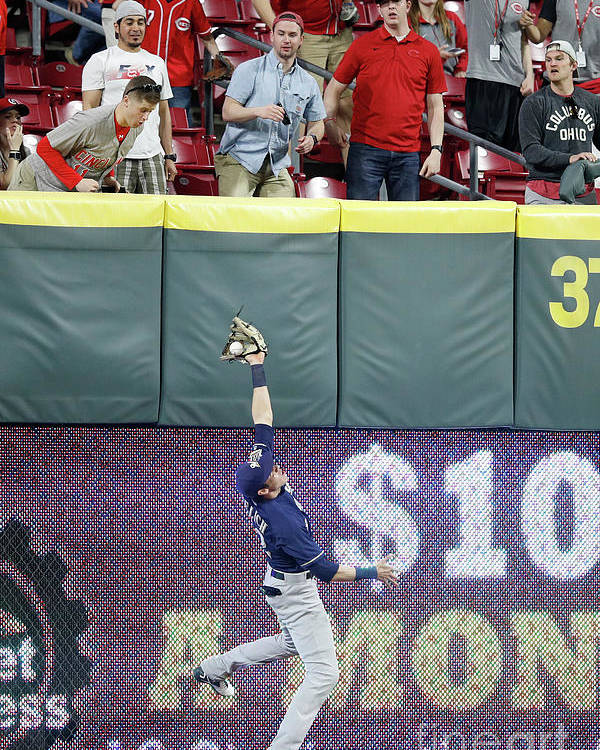 Great American Ball Park Poster featuring the photograph Christian Yelich by Joe Robbins