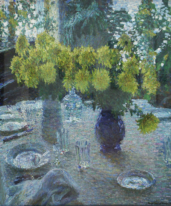 Russian Impressionism Poster featuring the painting Chrysanthemums by Igor Grabar