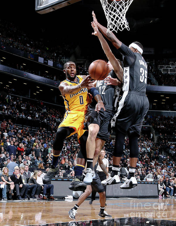 Nba Pro Basketball Poster featuring the photograph C.j. Miles by Nathaniel S. Butler