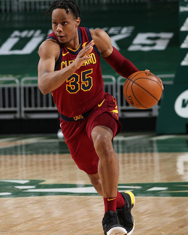 Nba Pro Basketball Poster featuring the photograph Cleveland Cavaliers v Milwaukee Bucks by Gary Dineen