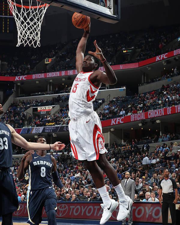 Nba Pro Basketball Poster featuring the photograph Clint Capela by Joe Murphy
