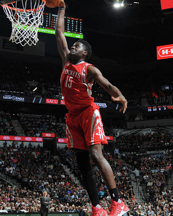 Nba Pro Basketball Poster featuring the photograph Clint Capela by Mark Sobhani