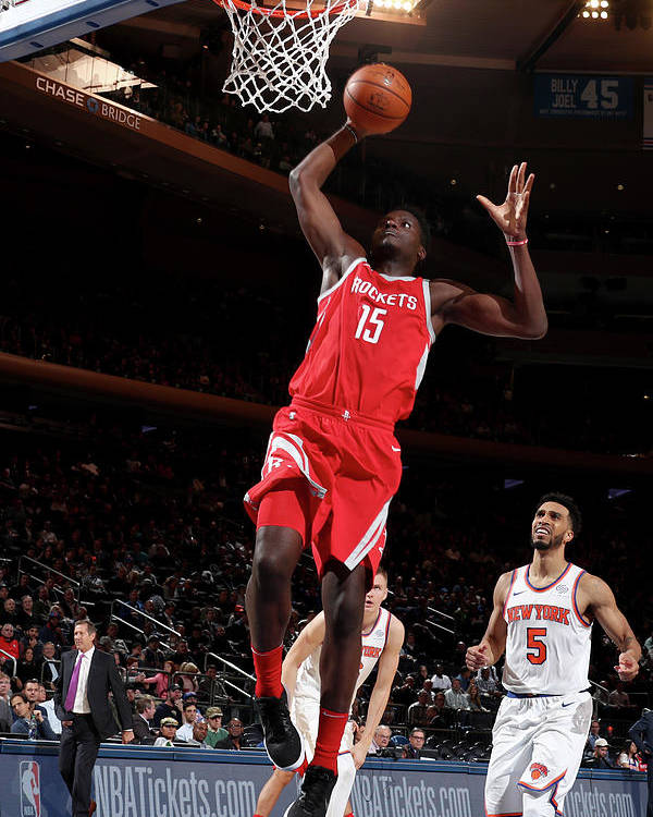 Nba Pro Basketball Poster featuring the photograph Clint Capela by Nathaniel S. Butler