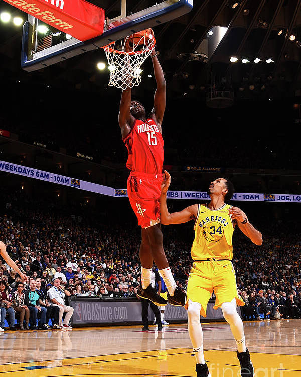 Nba Pro Basketball Poster featuring the photograph Clint Capela by Noah Graham