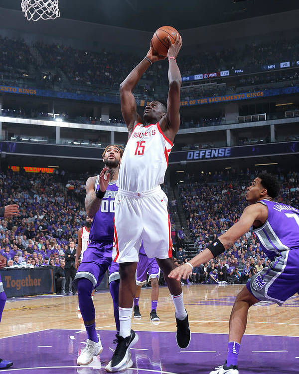Nba Pro Basketball Poster featuring the photograph Clint Capela by Rocky Widner