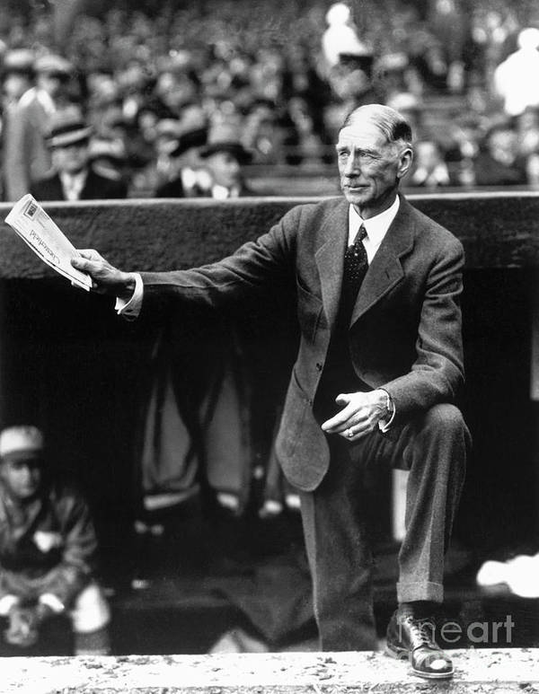 American League Baseball Poster featuring the photograph Connie Mack by National Baseball Hall Of Fame Library