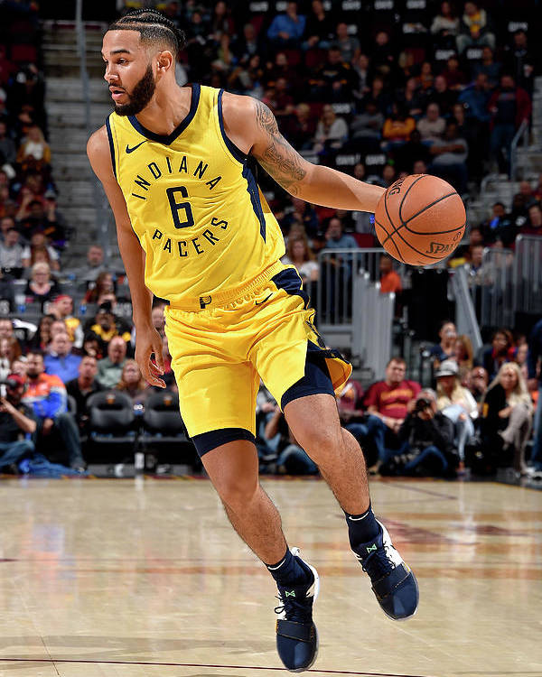 Nba Pro Basketball Poster featuring the photograph Cory Joseph by David Liam Kyle