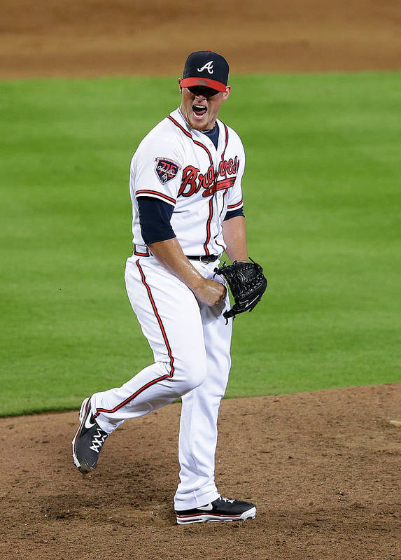 Atlanta Poster featuring the photograph Craig Kimbrel by Mike Zarrilli