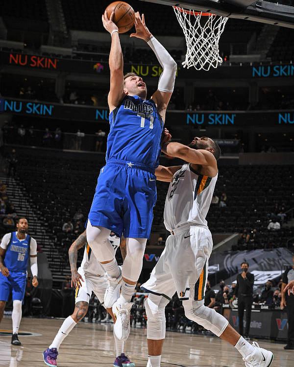 Nba Pro Basketball Poster featuring the photograph Dallas Mavericks v Utah Jazz by Garrett Ellwood