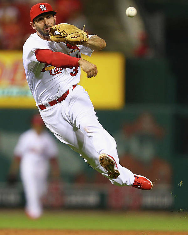 St. Louis Cardinals Poster featuring the photograph Daniel Descalso by Dilip Vishwanat