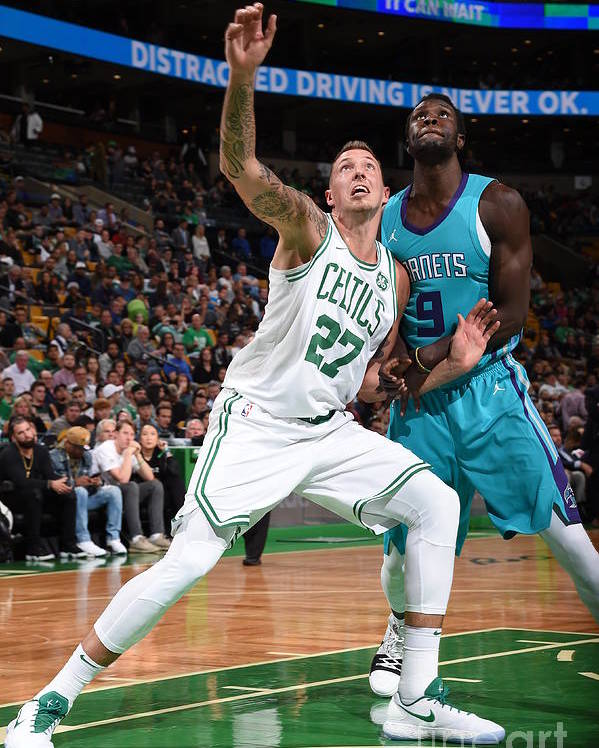 Nba Pro Basketball Poster featuring the photograph Daniel Theis and Mangok Mathiang by Brian Babineau