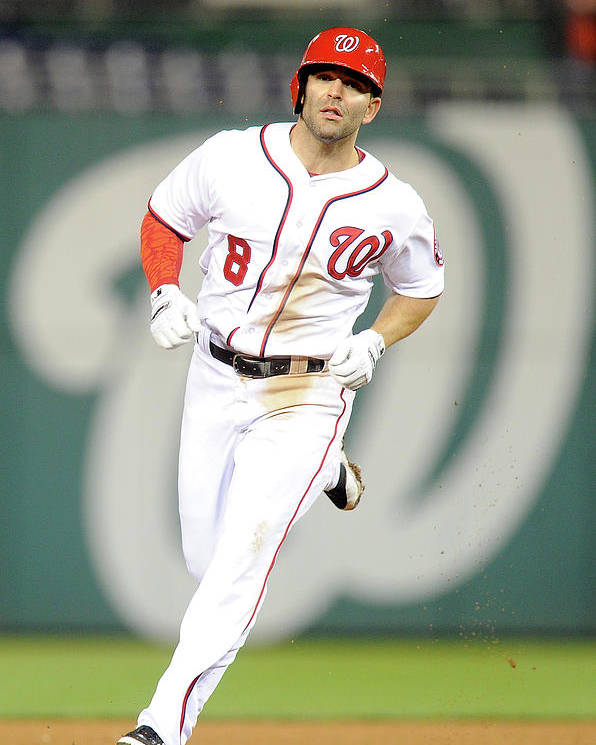 American League Baseball Poster featuring the photograph Danny Espinosa by Greg Fiume