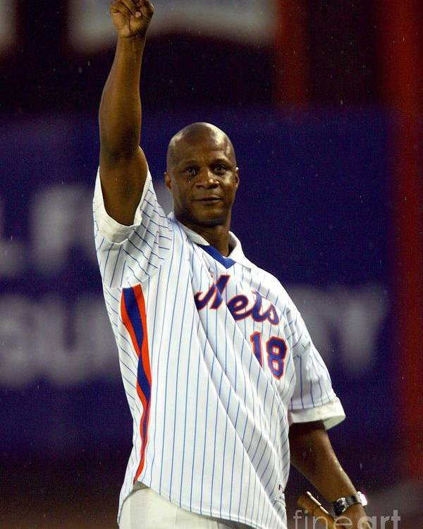 People Poster featuring the photograph Darryl Strawberry by Chris Trotman