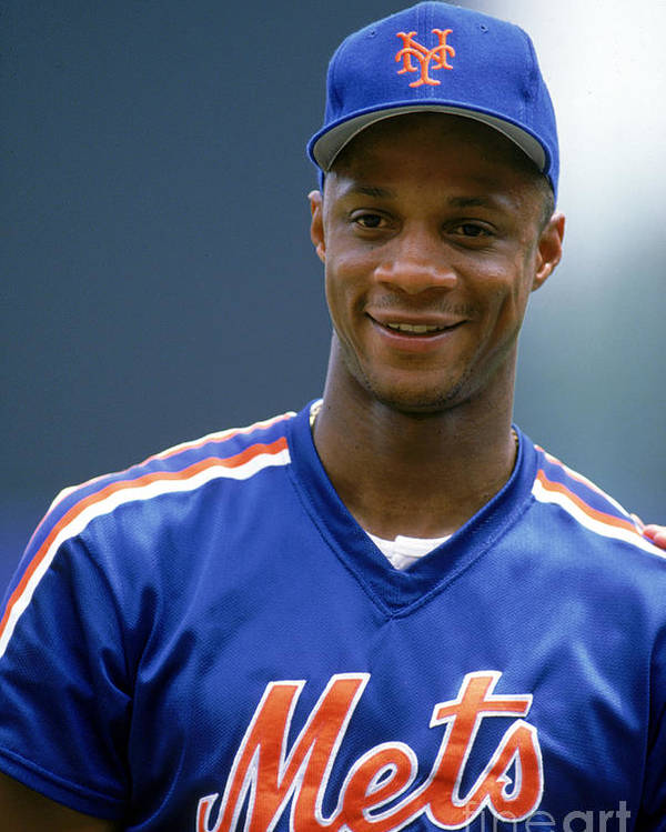1980-1989 Poster featuring the photograph Darryl Strawberry by Ron Vesely